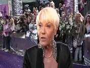 Wendy Richard being interviewed on the red carpet at the 2007 British Soap Awards in London.