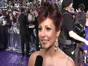 Roxanne Pallett being interviewed on the red carpet at the 2007 British Soap Awards in London.