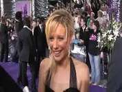 Kellie Shirley being interviewed on the red carpet at the 2007 British Soap Awards in London.