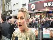 DS speaks to Kate Hudson at Fool's Gold film premiere in Leicester  Square.