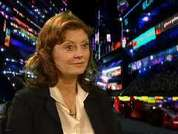 DS talks to Susan Sarandon who plays the heroe's mother in Speed Racer.