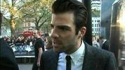 Chris Pine, Zachary Quinto, Simon Pegg, Zoe Saldana, John Cho and J.J. Abrams arrived in style for the UK premiere of Star Trek on Monday.
