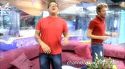 A clip from the housemates' 'Don't Stop Believing' video.