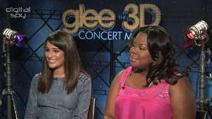 Lea Michele, Amber Riley - 'Glee: The 3D Concert Movie' interview