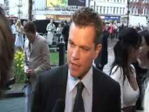 The Bourne Ultimatum premiere: Matt Damon