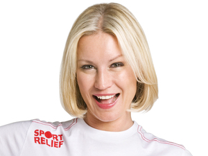 Denise Van Outen modelling for Sports Relief