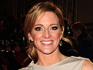 Gabby Logan arriving for the 2012 NTA Awards