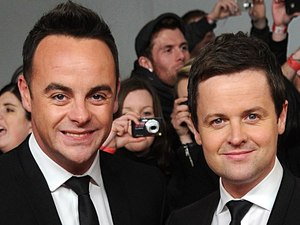 Ant & Dec arriving for the 2012 NTA Awards