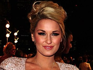Sam Faiers arriving for the 2012 NTA Awards