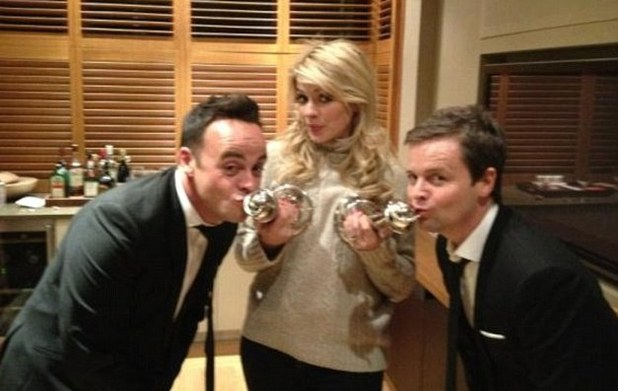 Holly Willoughby with Ant and Dec