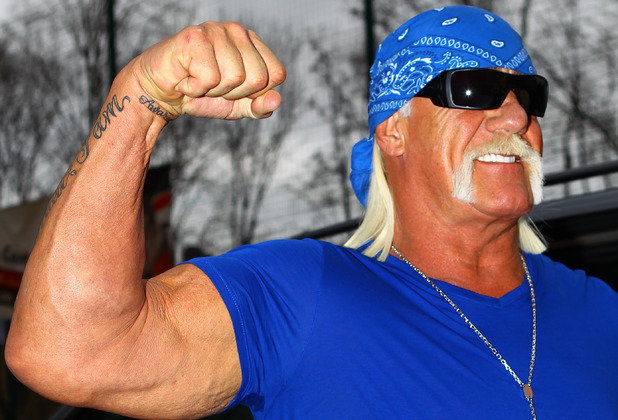 Hulk Hogan arriving at talksport radio studios London