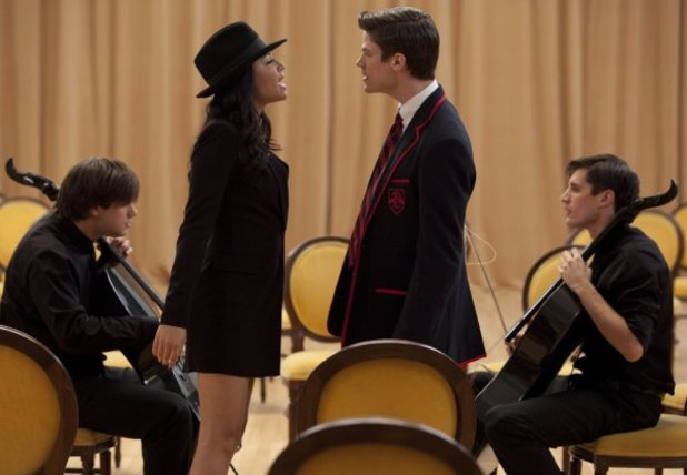 Blaine, Darren Criss, Glee, Michael, Sebastian, Santana