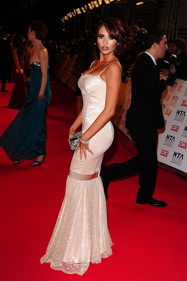 Amy Childs arriving for the 2012 NTA Awards