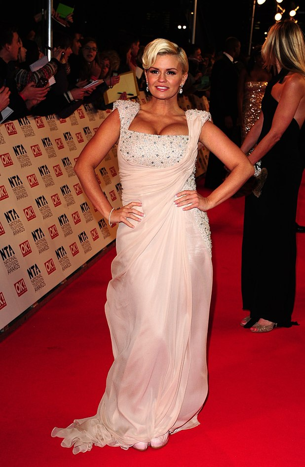 Kerry Katona arriving for the 2012 NTA Awards