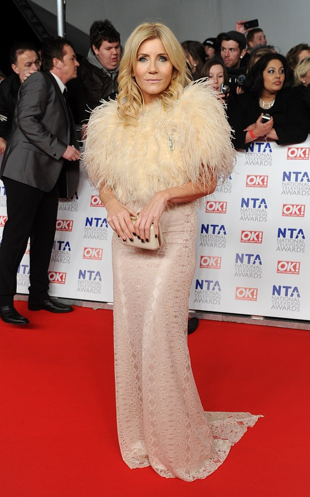 Michelle Collins arriving for the 2012 NTA Awards