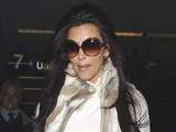 Kim Kardashian arriving at LAX Airport Los Angeles