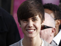 Justin Bieber appears at a Michael Jackson tribute event in Hollywood.