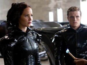 The Hunger Games gallery: Katniss and Peeta meet Cinna.