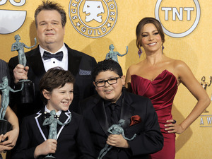 Sofia Vergara, Rico Rodriguez, Nolan Gould and Eric Stonestreet,18th Annual Screen Actors Guild Awards