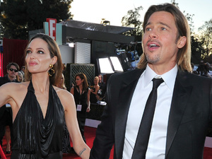 Angelina Jolie, left, and Brad Pitt at the 18th Annual Screen Actors Guild Awards