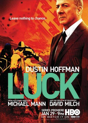 Dustin Hoffman in 'Luck' poster