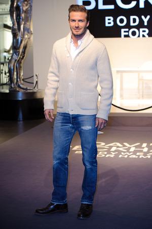 David Beckham attends his 'David Beckham Bodywear for H&M' launch in London