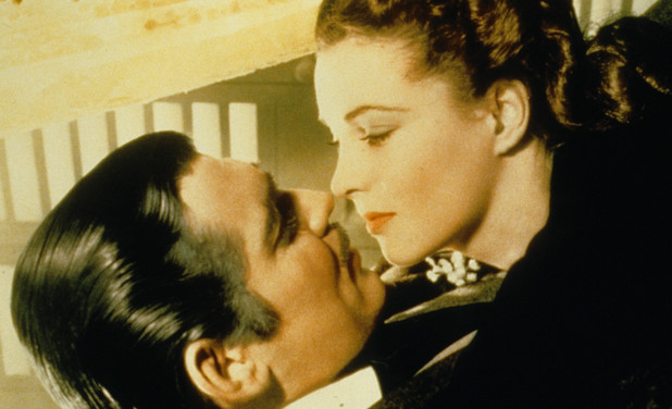 Rhett Butler (Clark Gable) and Scarlett O'Hara (Vivien Leigh)