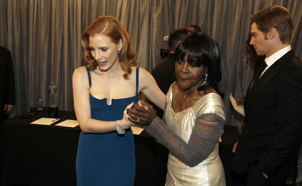 Jessica Chastain and Cicely Tyson