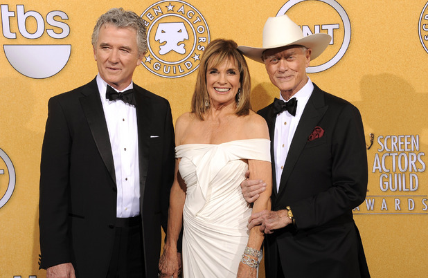 Patrick Duffy, Linda Gray and Larry Hagma