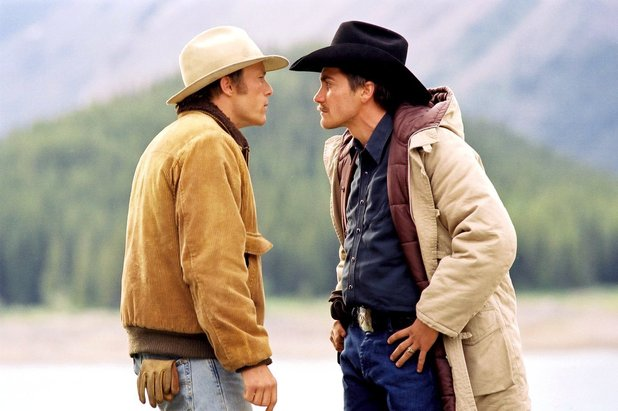 Ennis Del Mar (Heath Ledger) and Jack Twist (Jake Gyllenhaal