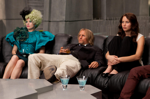 Effie Trinket, Haymitch and Katniss