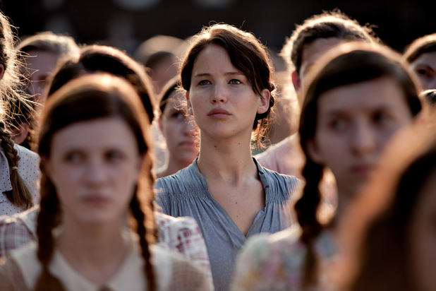Katniss at her district's Reaping event