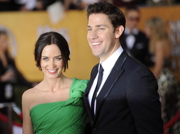 Emily Blunt and Jon Krasinski at the 18th Annual Screen Actors Guild Awards