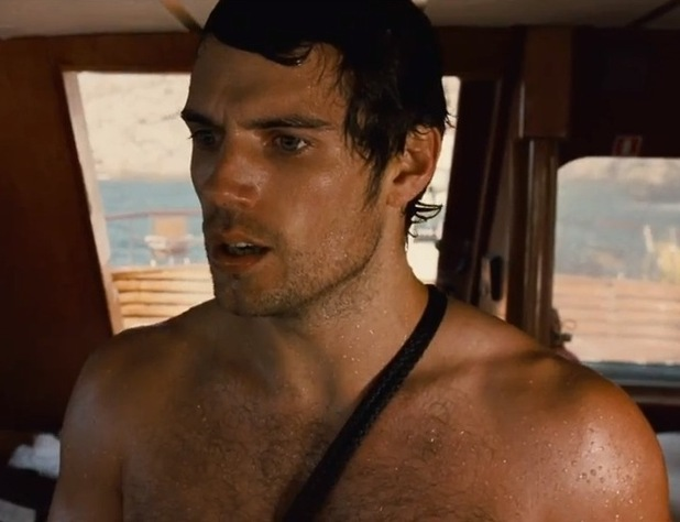Henry Cavill with his top off and Sigourney Weaver firing a gun?