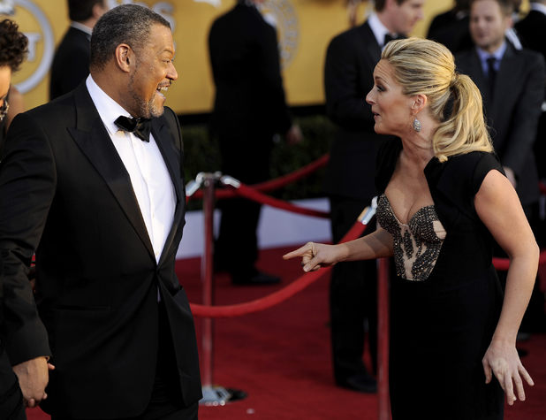 Laurence Fishburne and Jane Krakowski