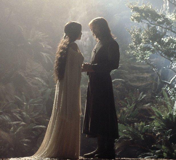 Aragorn (Viggo Mortensen) and Arwen (Liv Tyler)