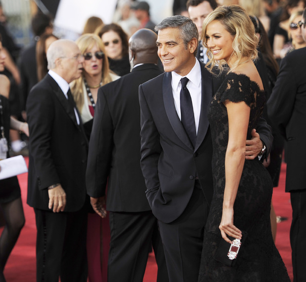 George Clooney and Stacy Keibler at the 18th Annual Screen Actors Guild Awards