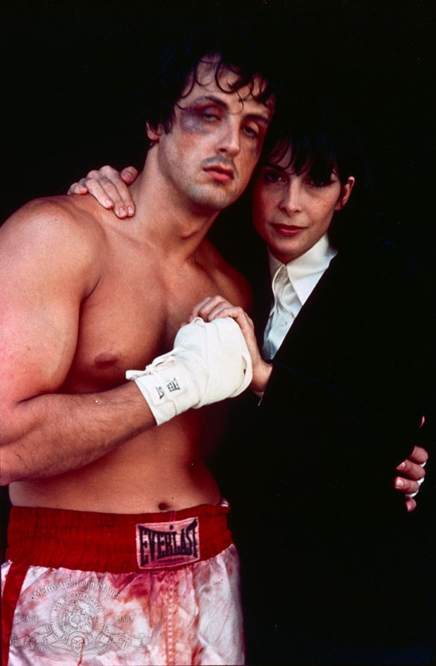 Rocky (Sylvester Stallone) and Adrian (Talia Shire)