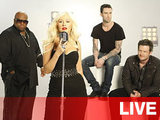 The Voice Live Blog. Christina Aguilera, Cee Lo Green, Blake Shelton and Adam Levine