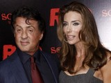 Sylvester Stallone, left, and Jennifer Flavin