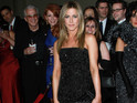 "Jennifer Aniston also jokes that her beau Justin Theroux is ""really cute""."