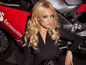 Jorgie Porter shows off her Bennetts Babes biker gear.