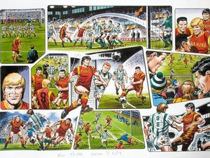 Mike White's 'Roy of the Rovers' artwork