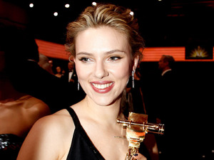Scarlett Johansson The 47th annual Goldene Kamera (Golden Camera) Awards at Ullsteinhalle at Axel Springer AG -Inside Berlin, Germany