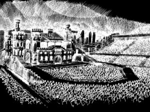 Lady GaGa 'Born This Way Ball' tour stage sketch