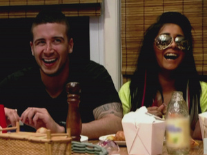 Vinny Guadagnino and Nicole 'Snooki' Polizzi MTV's 'Jersey Shore' Season 5, Episode 6 The Follow Game: Mike gathers information on a roommate while Jenni's boyfriend doesn't return her calls