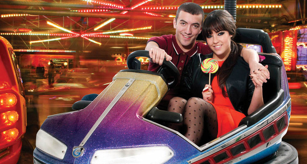 Jonny Clarke and Stephanie Davis pose for Inside Soap