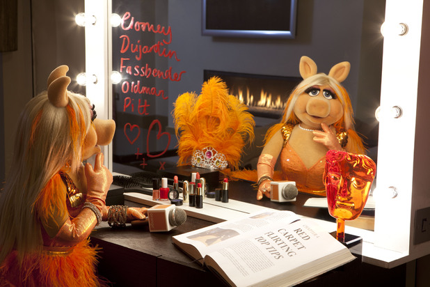Miss Piggy Orange Bafta Red Carpet promotional image