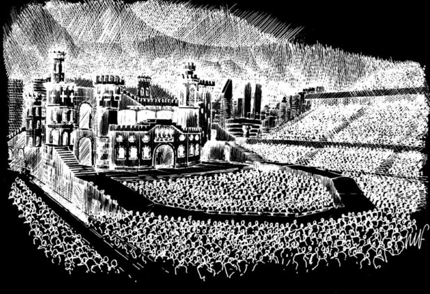 Lady GaGa &#39;Born This Way Ball&#39; tour stage sketch
