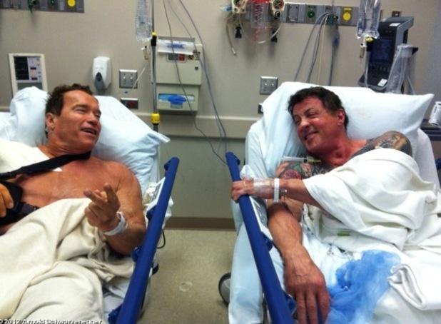 Arnold Schwarzenegger, Sylvester Stallone, whosay, The Tomb